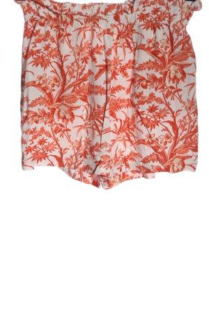 H&M High-Waist-Shorts hellorange-wollweiß Allover-Druck Casual-Look