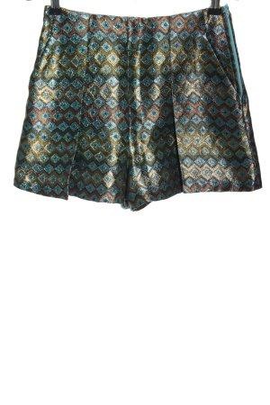 H&M High-Waist-Shorts Allover-Druck Glanz-Optik
