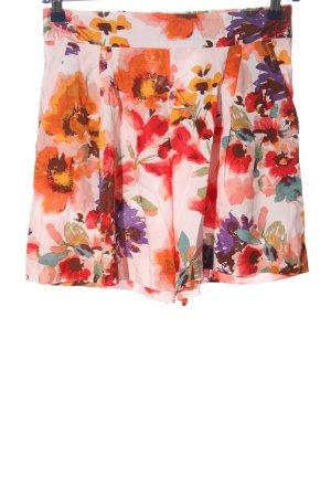 H&M Pantalón corto de talle alto estampado repetido sobre toda la superficie