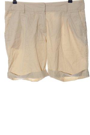 H&M Pantalón corto de talle alto crema look casual