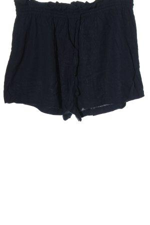 H&M High-Waist-Shorts blau Allover-Druck Casual-Look