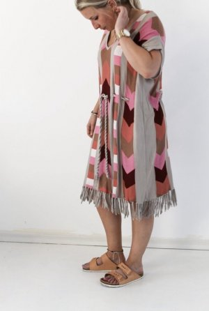 H&M Fringed Dress multicolored