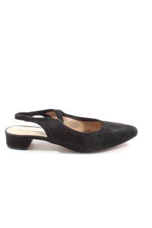 H&M Czółenka z paskiem za piętą czarny W stylu casual