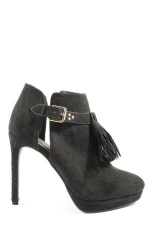 H&M Hochfront-Pumps schwarz extravaganter Stil