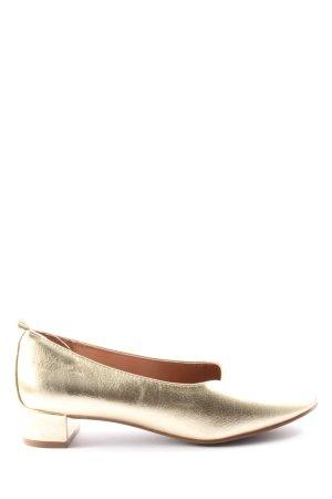 H&M Hochfront-Pumps goldfarben Casual-Look