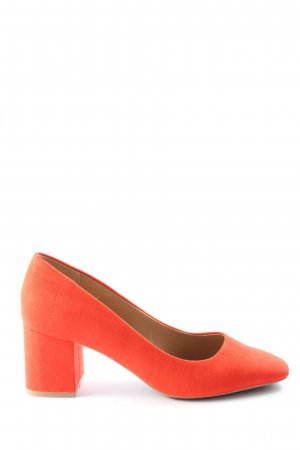 H&M Hochfront-Pumps rot Casual-Look