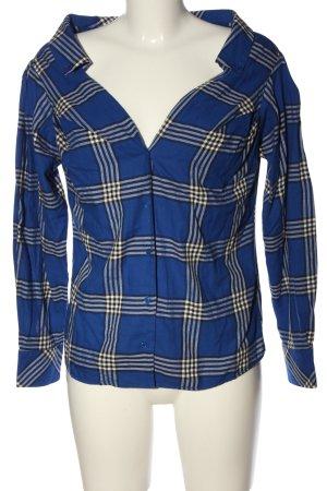 H&M Camisa de leñador azul-blanco estampado a cuadros look casual