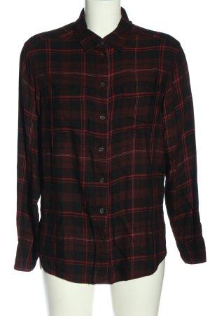 H&M Houthakkershemd rood-zwart volledige print casual uitstraling