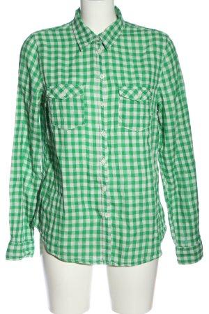 H&M Camisa de leñador verde-blanco estampado repetido sobre toda la superficie
