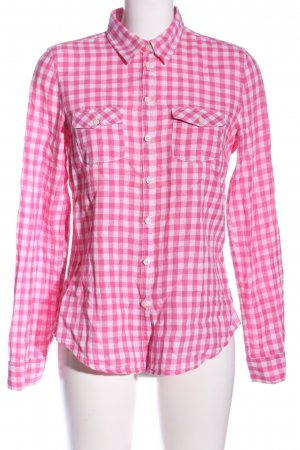 H&M Holzfällerhemd pink-weiß Allover-Druck Casual-Look
