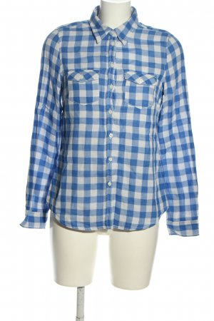 H&M Holzfällerhemd blau-weiß Karomuster Casual-Look