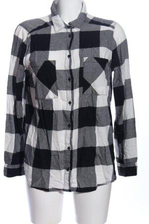 H&M Koszula w kratę czarny-biały Na całej powierzchni W stylu casual