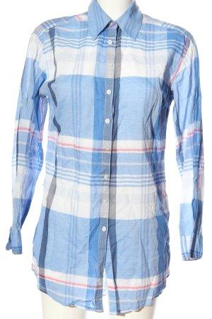 H&M Holzfällerhemd blau-weiß Allover-Druck Casual-Look