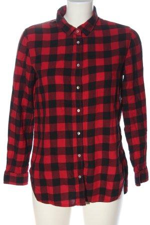 H&M Holzfällerhemd rot-schwarz Allover-Druck Casual-Look