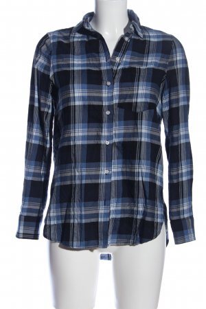 H&M Holzfällerhemd blau-schwarz Karomuster Casual-Look
