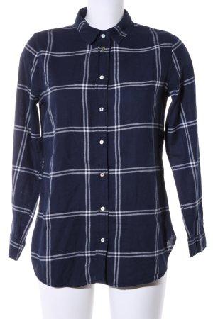 H&M Houthakkershemd blauw-wit geruite print casual uitstraling