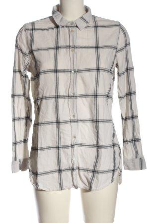 H&M Lumberjack Shirt natural white-light grey check pattern casual look
