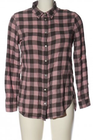 H&M Holzfällerhemd pink-schwarz Karomuster Casual-Look
