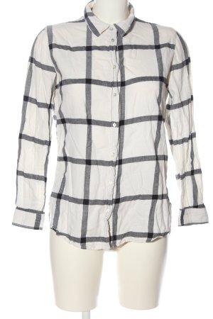 H&M Koszula w kratę biały-jasnoszary Na całej powierzchni W stylu casual