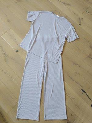 H&M Home Anzug Kombi PJ Pyjama Homewear Rippstrick gerippt