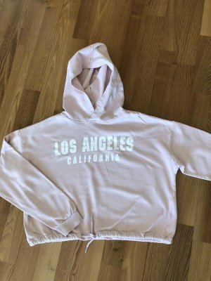 H&M°Hoodie - Sweater°rosé mit Print°170 / S°34°Cropped° TOP, wie neu