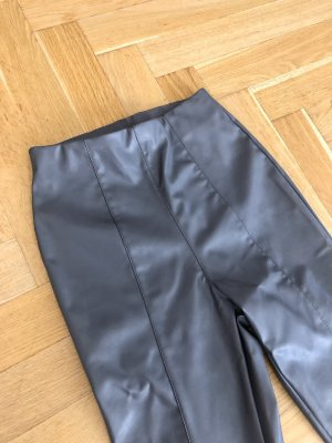 H&M Hose 34 XS Grau Kunstleder Leggings
