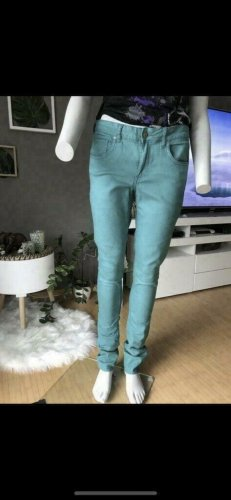 H&M Drainpipe Trousers turquoise
