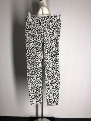 H&M Stretch Trousers white-black