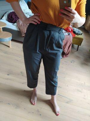 H&M Hose Anzughose Bundfalten Highwaist Ankle
