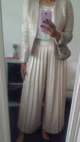 H&M Divided Pantalone a vita alta crema