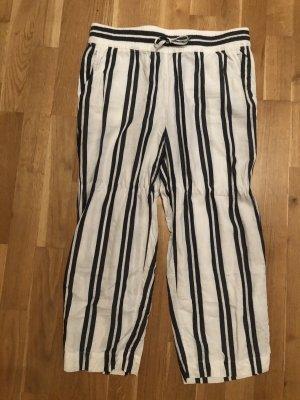 H&M Falda pantalón de pernera ancha blanco-azul oscuro