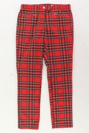 H&M Hose Größe 40 kariert rot aus Polyester