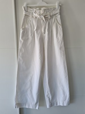 H&M Paperbag Trousers white