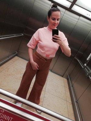 H&M Pantalon taille haute cognac