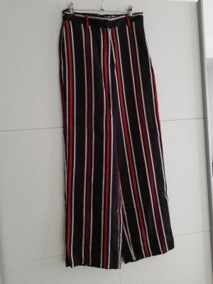 H&M Hose Streifen gestreift 34 rot schwarz dunkelblau