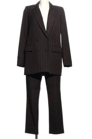 H&M Tailleur-pantalon noir-brun imprimé allover style d'affaires