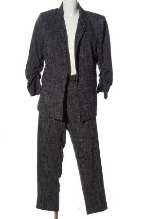 H&M Tailleur-pantalon noir-blanc moucheté style décontracté