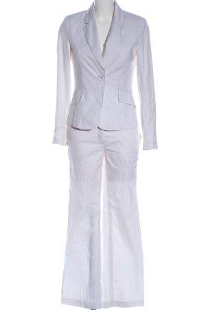 H&M Traje de pantalón blanco-marrón estilo «business»
