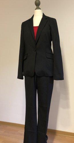 H&M Trouser Suit black-white