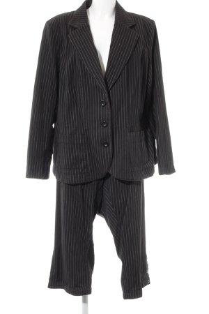H&M Hosenanzug schwarz-hellbeige Streifenmuster Business-Look
