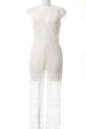 H&M Hosenanzug weiß abstraktes Muster extravaganter Stil