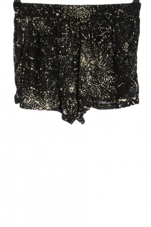 H&M Hot Pants schwarz-weiß abstraktes Muster Casual-Look