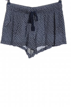 H&M Hot Pants blue-white allover print casual look