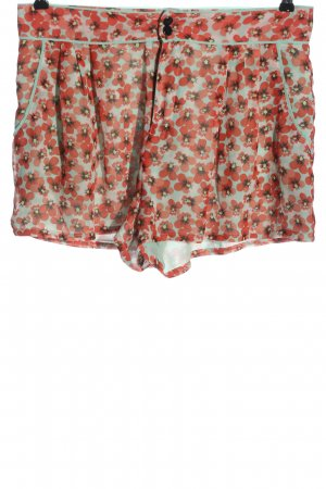 H&M Hot Pants türkis-rot Allover-Druck Casual-Look