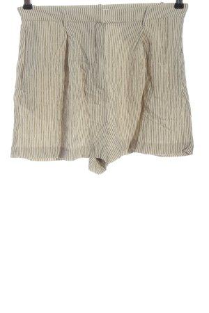 H&M Krótkie szorty w kolorze białej wełny-czarny Na całej powierzchni