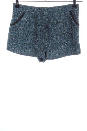 H&M Hot Pants blau-khaki meliert Casual-Look