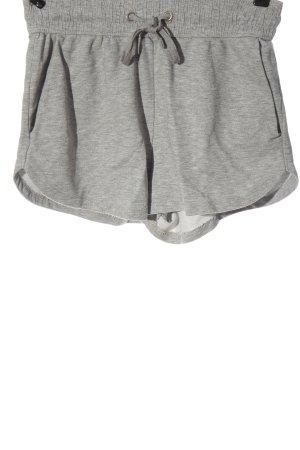 H&M Hot Pants hellgrau meliert schlichter Stil