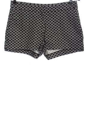 H&M Hot Pants black-white allover print casual look