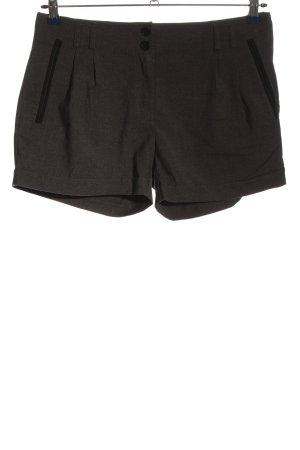 H&M Hot Pants hellgrau meliert Casual-Look