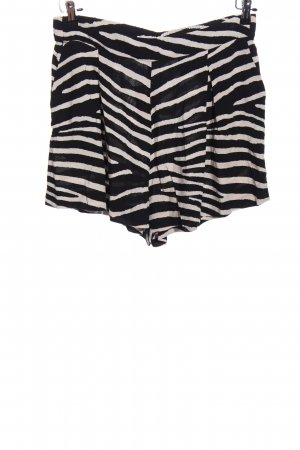 H&M Hot Pants schwarz-wollweiß Animalmuster Casual-Look